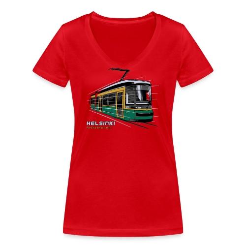 Helsingin Raitiovaunu T-paidat, 154 upeaa tuotetta - Stanley & Stellan naisten v-aukkoinen luomu-T-paita