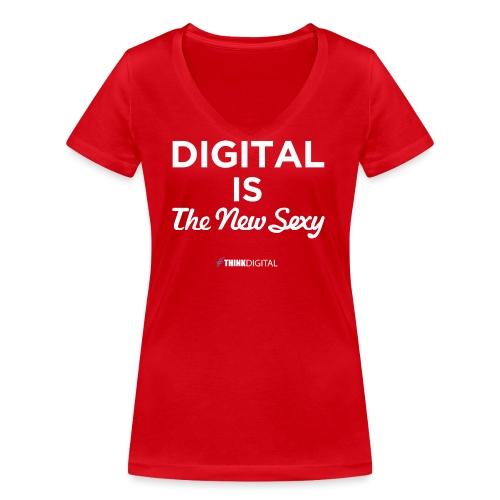 Digital is the New Sexy - T-shirt ecologica da donna con scollo a V di Stanley & Stella
