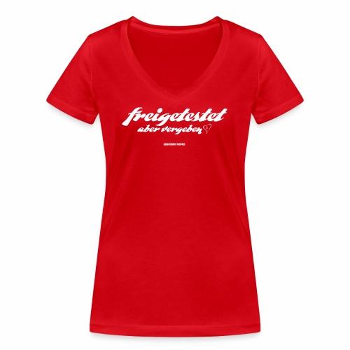 Freigetestet aber vergeben - Frauen Bio-T-Shirt mit V-Ausschnitt von Stanley & Stella