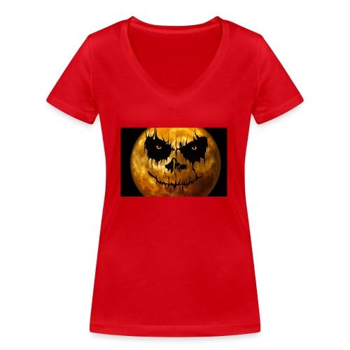 Halloween Mond Shadow Gamer Limited Edition - Frauen Bio-T-Shirt mit V-Ausschnitt von Stanley & Stella