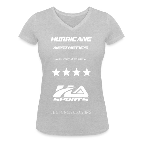 design no workout no gain white - T-shirt bio col V Stanley & Stella Femme