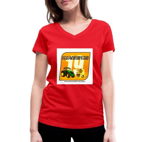 hjarne 123 danmarks bedeste youtuber - Økologisk Stanley & Stella T-shirt med V-udskæring til damer