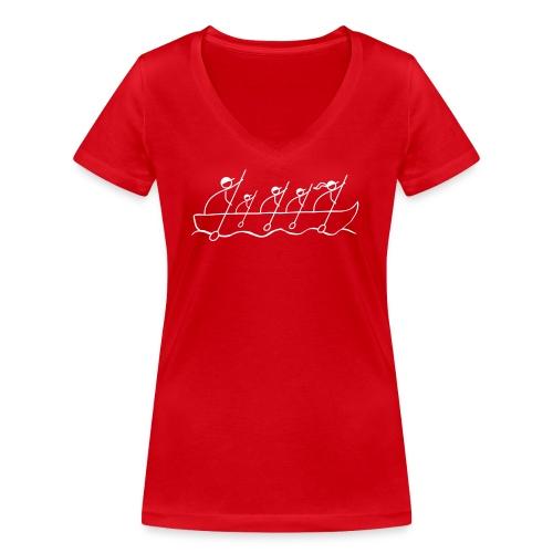 lodka_4m1w_bez-logo - Frauen Bio-T-Shirt mit V-Ausschnitt von Stanley & Stella