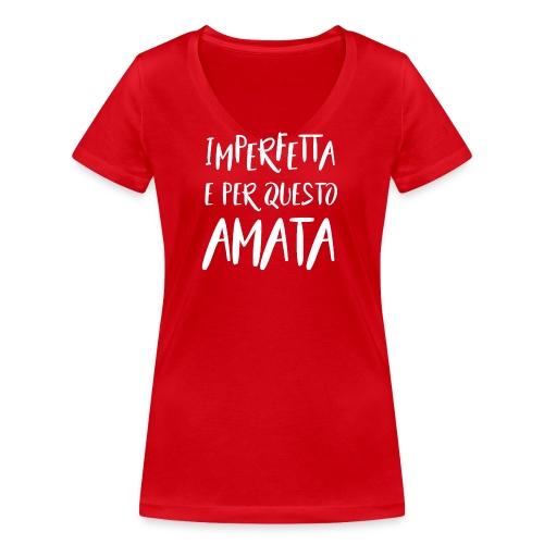 Imperfetta e per questo amata B - T-shirt ecologica da donna con scollo a V di Stanley & Stella