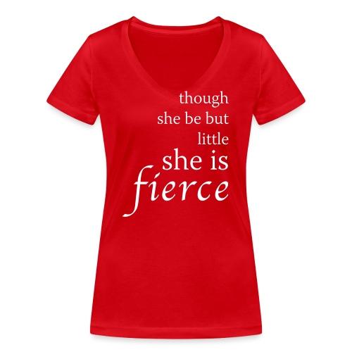 she-is-fierce - Women's Organic V-Neck T-Shirt by Stanley & Stella