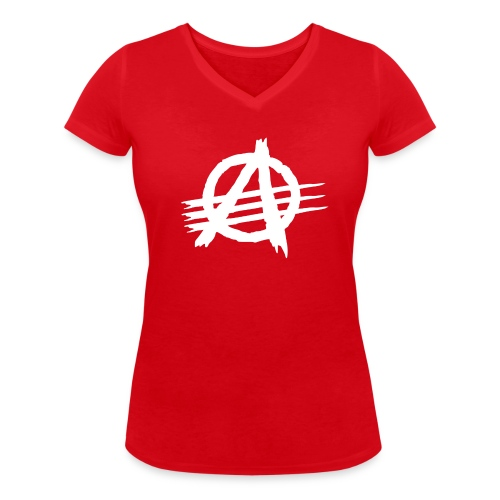AGaiNST ALL AuTHoRiTieS - Women's Organic V-Neck T-Shirt by Stanley & Stella