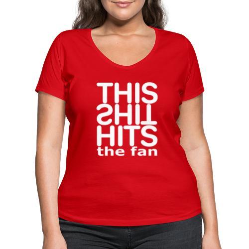 TSHTF WHITE - Camiseta ecológica mujer con cuello de pico de Stanley & Stella