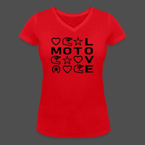 MOTOLOVE 9ML01 - Women's Organic V-Neck T-Shirt by Stanley & Stella