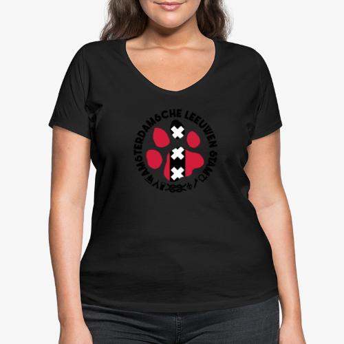 ALS witte cirkel lichtshi - Vrouwen bio T-shirt met V-hals van Stanley & Stella