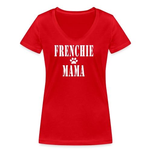 Frenchie Mama - T-shirt bio col V Stanley & Stella Femme