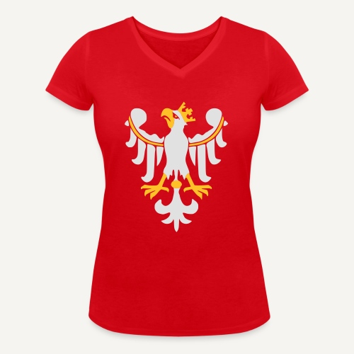 Orzeł Piastowski - Ekologiczna koszulka damska z dekoltem w serek Stanley & Stella