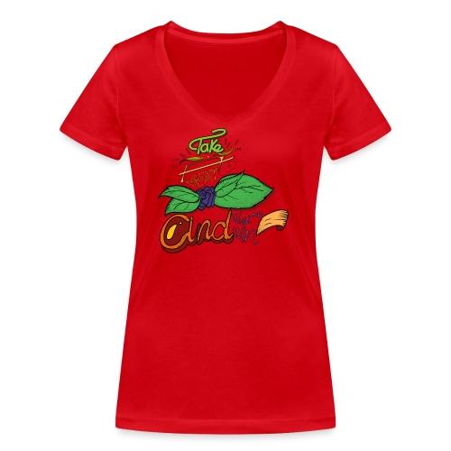 Prend place et regarde moi - T-shirt bio col V Stanley & Stella Femme