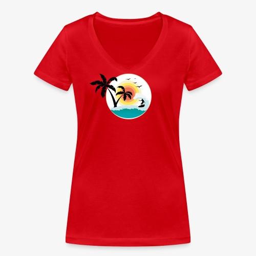 Surfing in paradise - Frauen Bio-T-Shirt mit V-Ausschnitt von Stanley & Stella