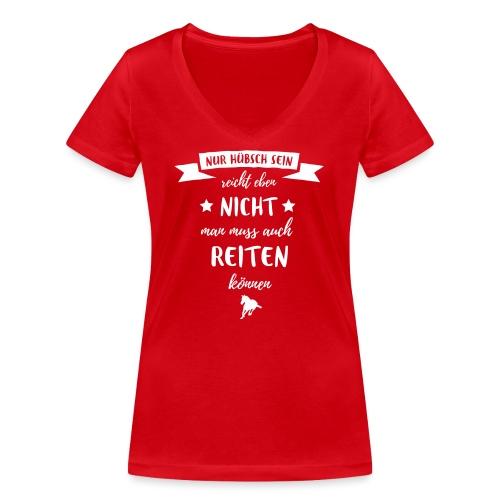 Vorschau: nur hübsch sein - Frauen Bio-T-Shirt mit V-Ausschnitt von Stanley & Stella