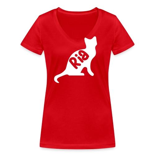 Team Ria Cat - Women's Organic V-Neck T-Shirt by Stanley & Stella