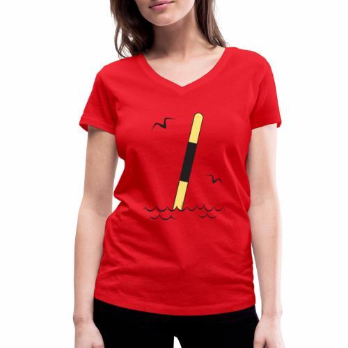 FP25 LÄNSIVIITTA Merimerkit funprint24 net - Stanley & Stellan naisten v-aukkoinen luomu-T-paita