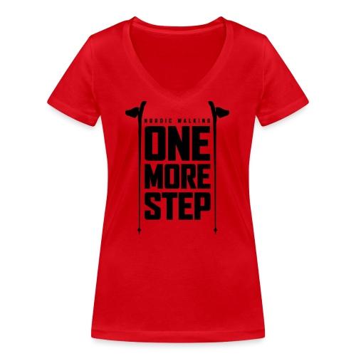 Nordic Walking - One more step - Stanley & Stellan naisten v-aukkoinen luomu-T-paita