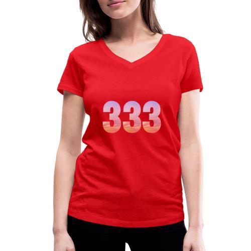 333 vous étes entouré de maitres ascensionnés - T-shirt bio col V Stanley & Stella Femme