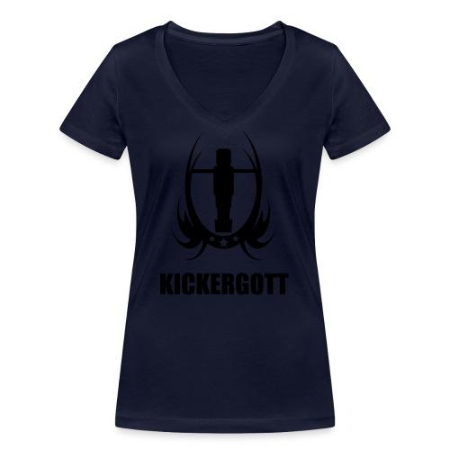 Tischfussball kickergott - Frauen Bio-T-Shirt mit V-Ausschnitt von Stanley & Stella