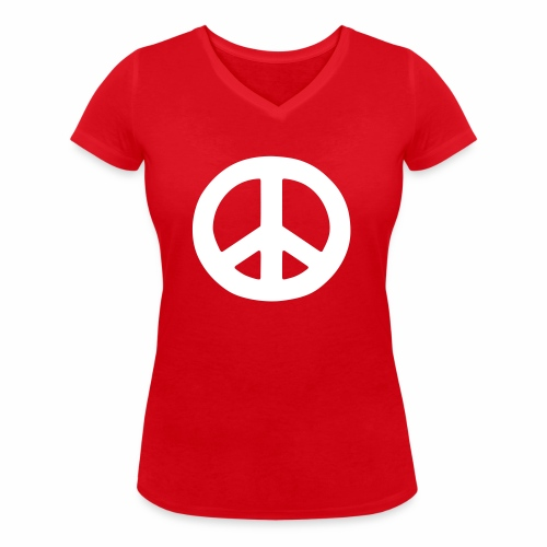 Peace - Women's Organic V-Neck T-Shirt by Stanley & Stella