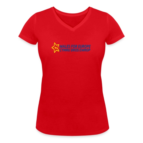 Peoples Vote Remain in EU - Stanley & Stellan naisten v-aukkoinen luomu-T-paita