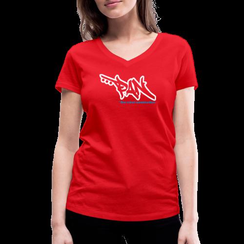 PETAAPAN - Frauen Bio-T-Shirt mit V-Ausschnitt von Stanley & Stella