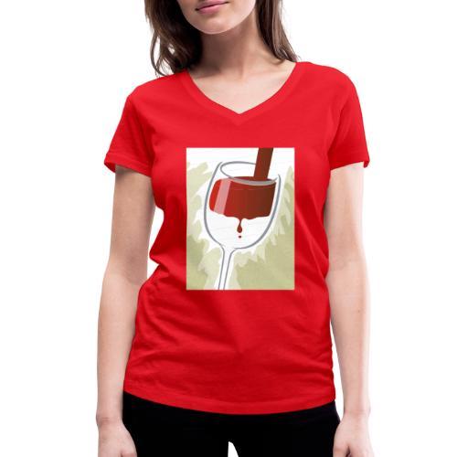 Glas Halfvol - Vrouwen bio T-shirt met V-hals van Stanley & Stella