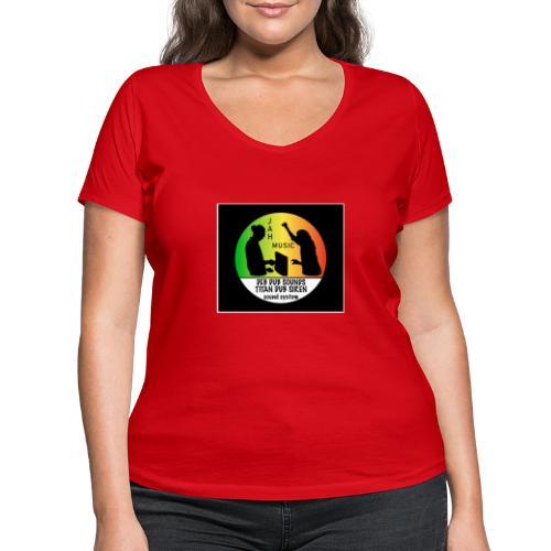 Deb Dub & Titan Dub Siren - Women's Organic V-Neck T-Shirt by Stanley & Stella