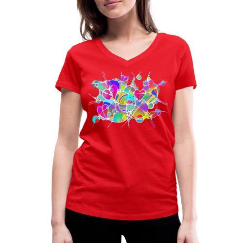 Abstrakte Kunst Neuro Art LOVE IS CRAZY 6 - Frauen Bio-T-Shirt mit V-Ausschnitt von Stanley & Stella