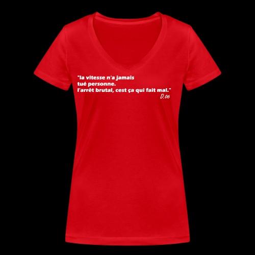 vitesse (blanc) - T-shirt bio col V Stanley & Stella Femme