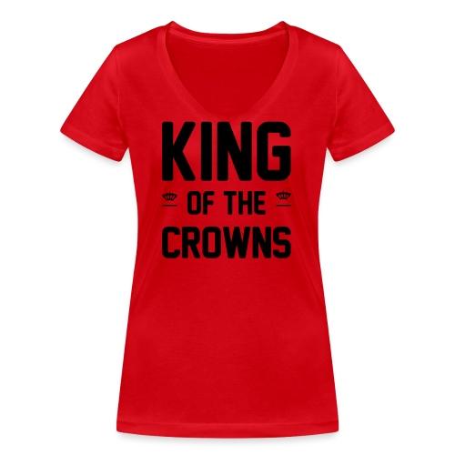 King of the crowns - Vrouwen bio T-shirt met V-hals van Stanley & Stella