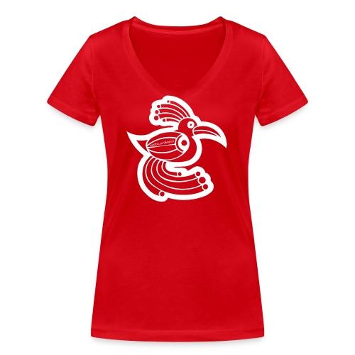 American spanish ave étnica - Camiseta ecológica mujer con cuello de pico de Stanley & Stella