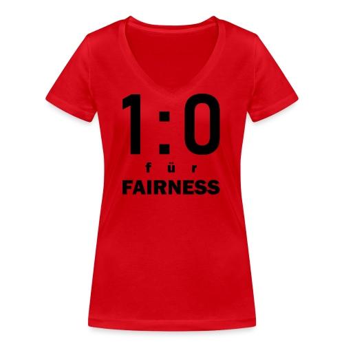 FAIRNESS in Führung - Frauen Bio-T-Shirt mit V-Ausschnitt von Stanley & Stella