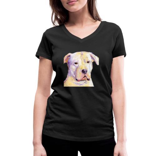 dogo argentino - Økologisk Stanley & Stella T-shirt med V-udskæring til damer