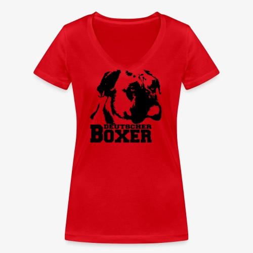 Deutscher Boxer - Frauen Bio-T-Shirt mit V-Ausschnitt von Stanley & Stella