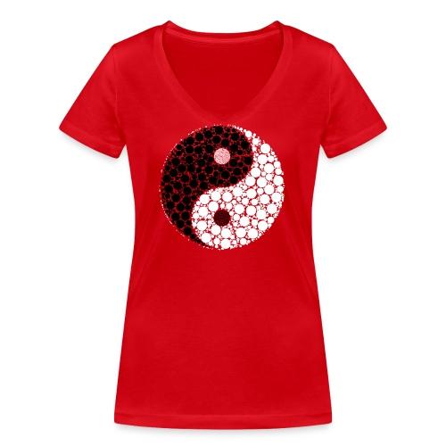 Yin/yang - Frauen Bio-T-Shirt mit V-Ausschnitt von Stanley & Stella