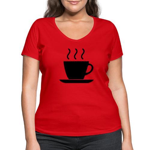 coffee - T-shirt ecologica da donna con scollo a V di Stanley & Stella