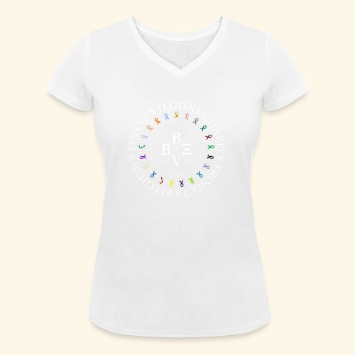 BVBE Charity Projects x factor white Charlemagne T - Women's Organic V-Neck T-Shirt by Stanley & Stella