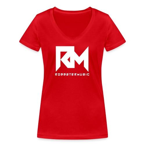 Original RM-Logo White - Frauen Bio-T-Shirt mit V-Ausschnitt von Stanley & Stella