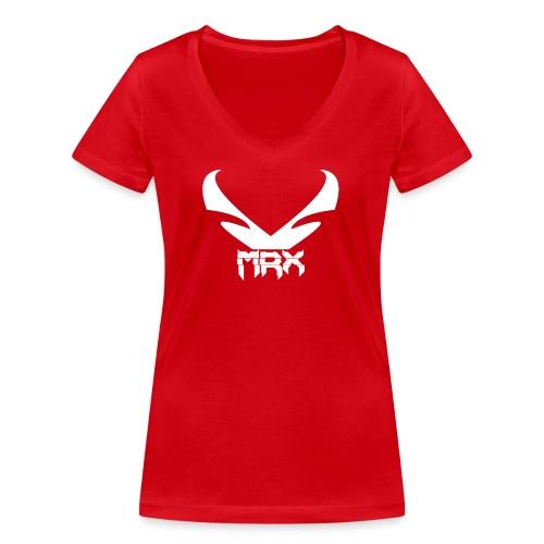 Black | MxR - Frauen Bio-T-Shirt mit V-Ausschnitt von Stanley & Stella