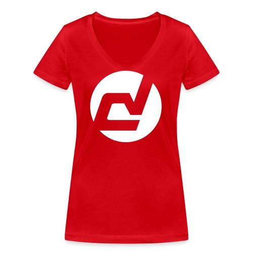 logo blanc - T-shirt bio col V Stanley & Stella Femme