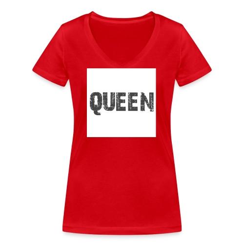 queen shirt - Vrouwen bio T-shirt met V-hals van Stanley & Stella