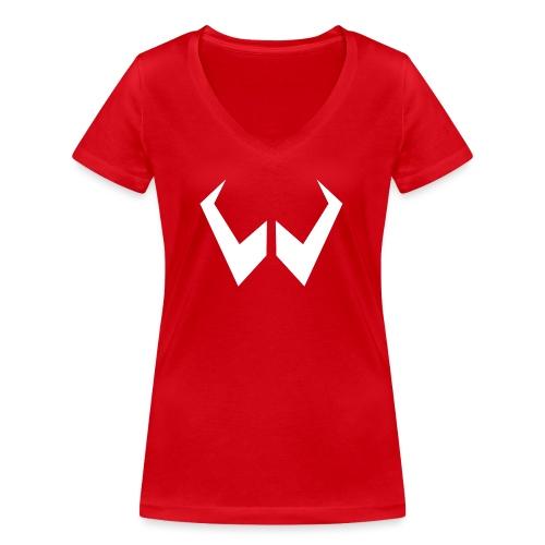 logo de without gravity pk - Camiseta ecológica mujer con cuello de pico de Stanley & Stella