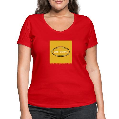 SINET DIGITAL - T-shirt bio col V Stanley & Stella Femme