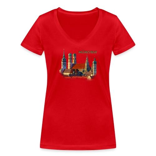 München Frauenkirche - Frauen Bio-T-Shirt mit V-Ausschnitt von Stanley & Stella