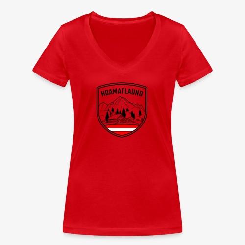 hoamatlaund österreich - Frauen Bio-T-Shirt mit V-Ausschnitt von Stanley & Stella