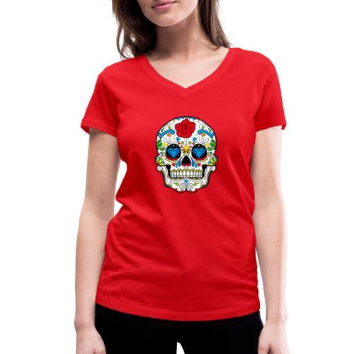 skull2 - T-shirt ecologica da donna con scollo a V di Stanley & Stella