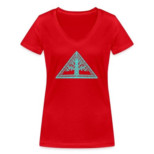 Lebensbaum - Frauen Bio-T-Shirt mit V-Ausschnitt von Stanley & Stella
