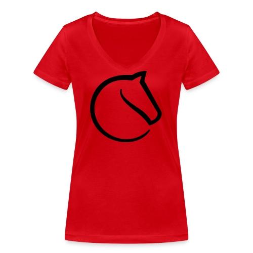 lichess logo - Women's Organic V-Neck T-Shirt by Stanley & Stella