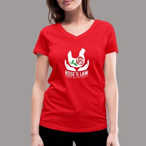 Roses Law Animal Bill of Rights Belgium - Vrouwen bio T-shirt met V-hals van Stanley & Stella